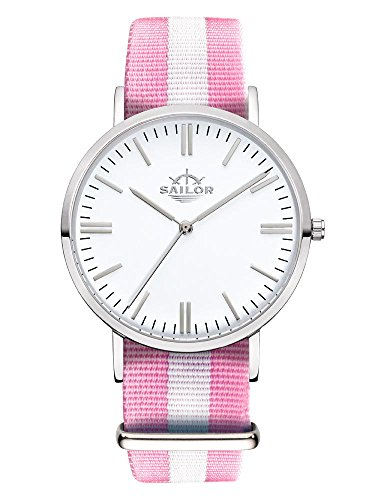 Armbanduhr Sailor Classic Sun silber mit Armband aus Nylon