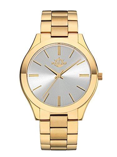 Sailor Damen Armbanduhr Fashion Model Paris in gold weiss mit Edelstahlarmband Quarzuhr mit analoger Anzeige Uhr im aktuellen Trend von St Tropez bis Berlin