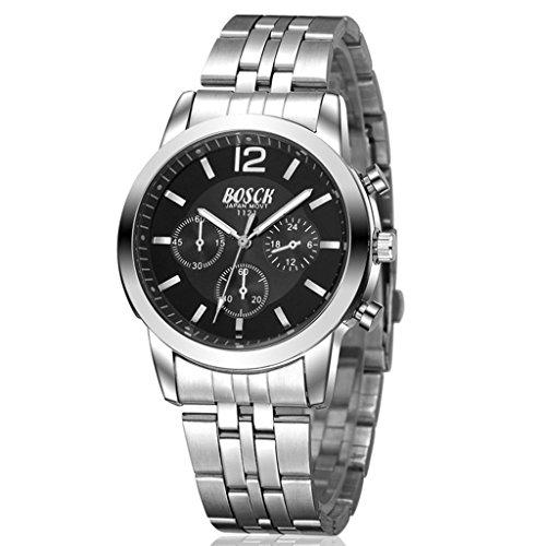 Unendlich U Fashion Casual Schwarz Zifferblatt Edelstahl Armband Wasserdicht Analog Digital Quarz Uhr