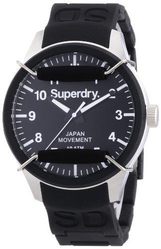 Superdry Herren Armbanduhr XL Analog Quarz Silikon SYG109B