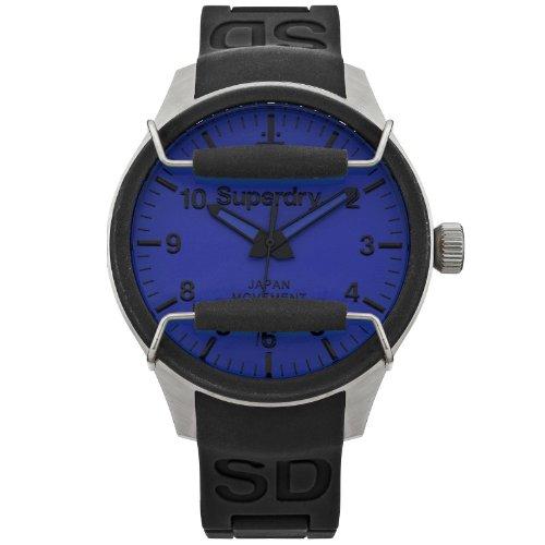 Superdry Herren Armbanduhr XL Analog Quarz Silikon SYG124U