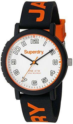 Superdry Herren Armbanduhr Campus Analog Quarz Silikon SYG196OB