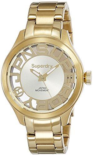 Damen Superdry Kensington Armbanduhr syl171gm in Gold Ton mit Japan Quarz Uhrwerk