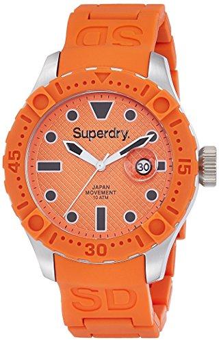 Superdry SYG140O DEEP SEA SCUBA Uhr Kautschuk Edelstahl 100m Analog Datum orange