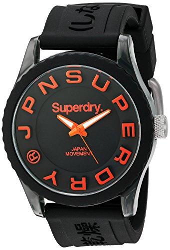 Superdry SYG145B TOKYO Uhr Kautschuk Kunststoff 30m Analog schwarz