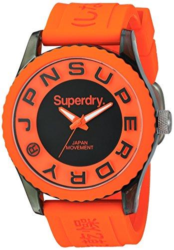 Superdry SYG145O TOKYO Uhr Kautschuk Kunststoff 50m Analog orange