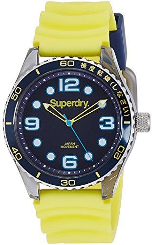 Superdry SYG163Y TOKYO SPORT Uhr Kautschuk Kunststoff 50m Analog gelb