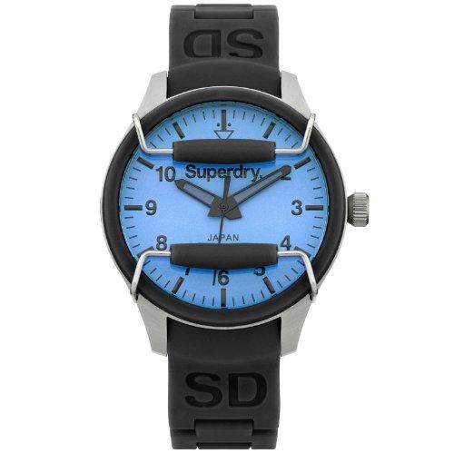 Superdry SYL126U SCUBA POP Uhr Damenuhr Kautschuk Edelstahl 100m Analog schwarz