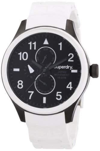 Superdry Herren-Armbanduhr XL Analog Quarz Silikon SYG110W