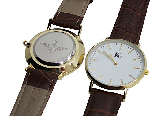 Paras Gravur Parachute Regiment Armbanduhr Armbanduhr Echtes Leder 24 K vergoldet Luxus Box
