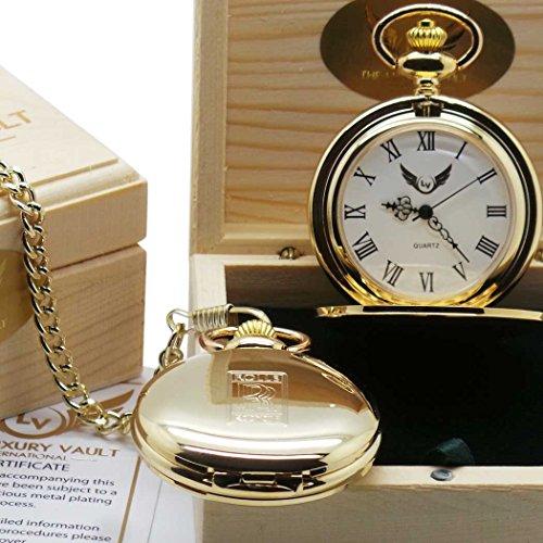 Rolls Royce Taschenuhr Gold 24 Karat zertifiziert in luxurioeser Holzgeschenkbox