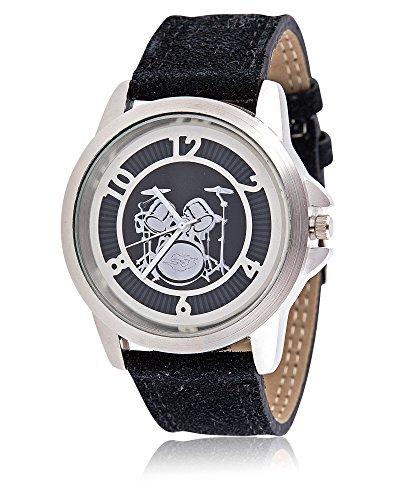 Armbanduhr mit Schlagzeug Schoenes Geschenk fuer Musiker