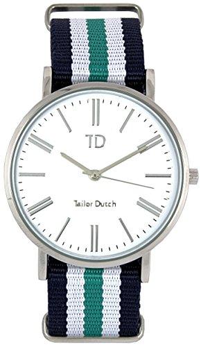 Tailor Dutch Uhr SW Blau Weiss Acqua Weis Blau