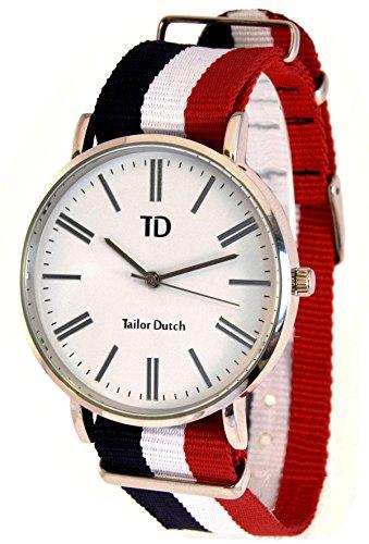 Tailor Dutch Uhr Blau Weiss Rot
