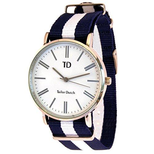 Tailor Dutch Uhr Blau Weiss Blau