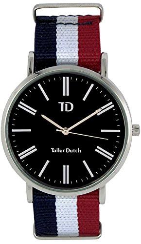 Tailor Dutch Uhr SB Blau Weiss Rot
