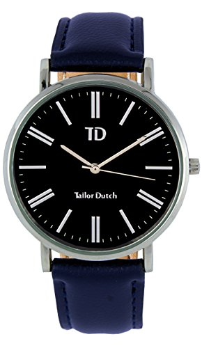 Tailor Dutch Uhr SB Leer Dunkelblau