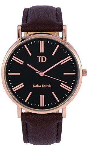 Tailor Dutch Uhr RGB Leer Dunkelbraun
