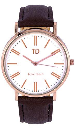 Tailor Dutch Uhr SW Leer Dunkelbraun