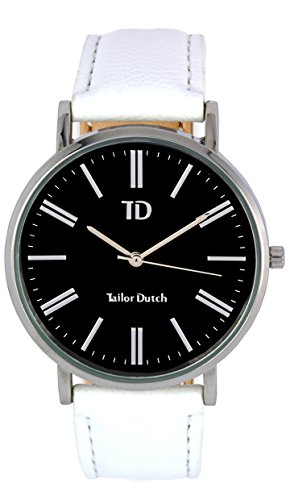 Tailor Dutch Uhr SB Leer Weiss