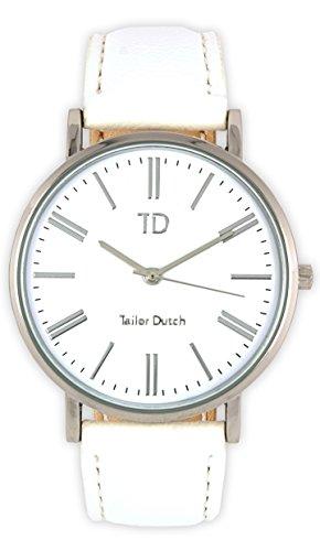 Tailor Dutch Uhr SW Leer Weiss