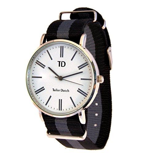 Tailor Dutch Uhr Schwarz Grau Schwarz
