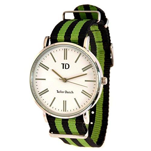 Tailor Dutch Uhr Schwarz Gruen