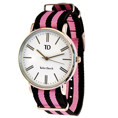 Tailor Dutch Uhr Schwarz Rosa