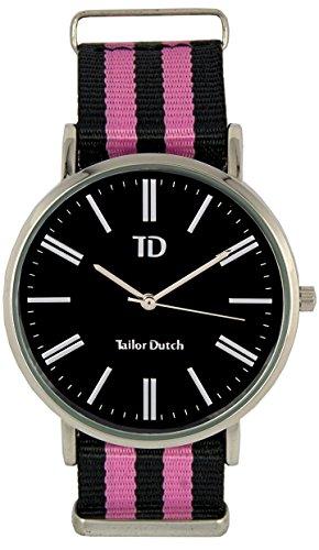 Tailor Dutch Uhr SB Schwarz Rosa