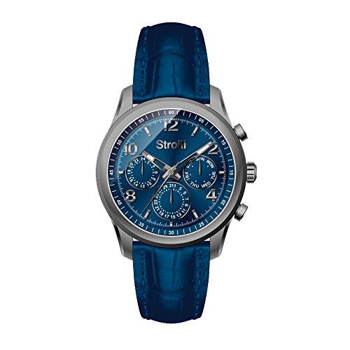 sroili Uhr Crono Multifunktion Gehaeuse und Armband in Stahl Zifferblatt Silver