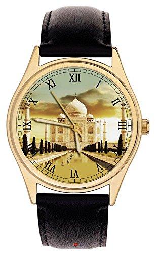 Atemberaubende Taj Mahal von Indien Seventh Wonder der Welt Sammlerstueck 40 mm Armbanduhr
