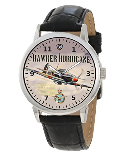 Aviation Art RAF ww ii Hawker Hurricane gross 40 mm Armbanduhr