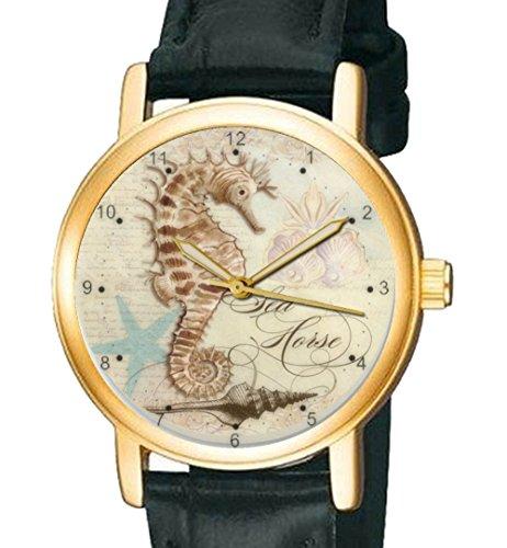 Beautiful Sea Horse Vintage Franzoesische Kunst Sammlerstueck 30 mm Armbanduhr