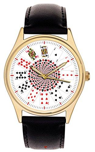 Classic Gambler s Spielkarten Zifferblatt Spades Hearts Clubs Collectible 40 mm Armbanduhr