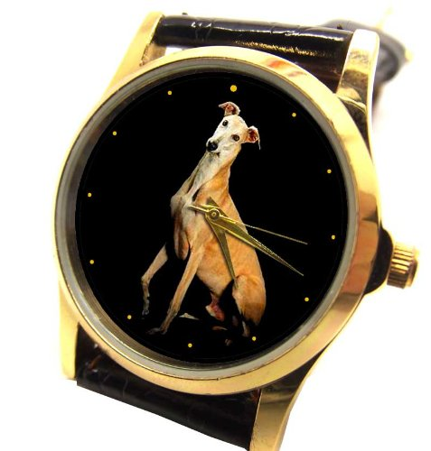 Classic Windhund Lover s Unisex 30 mm Collectible Armbanduhr