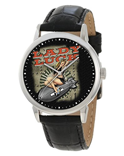 ww ii Erotic Bomber Art Lady Luck Collectible Pin Up Kunst Armbanduhr