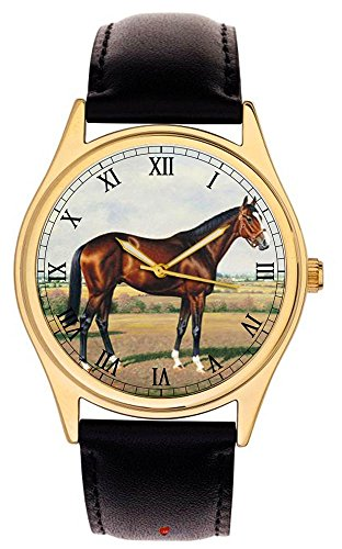 Shergar Fantastische Vintage Equestrian Art The Aga Khan s arabischen Hengst Collectible Armbanduhr