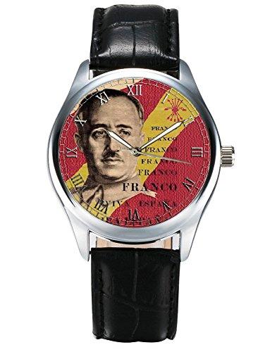Vintage Generalissimus Franco Spanisch Nationalismus Propaganda Farben Collectible Armbanduhr