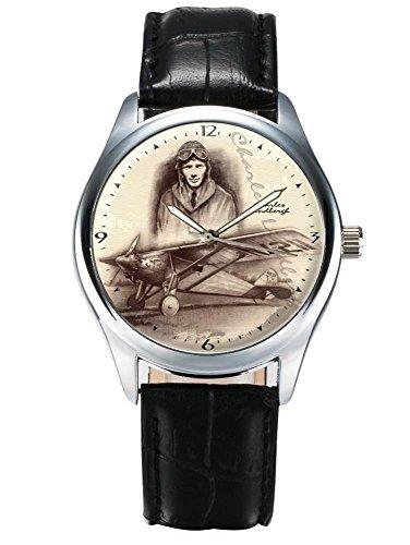 Charles Lindbergh und der Geist des Heiligen Louis Classic Aviation Art GEDENKMUENZE Armbanduhr
