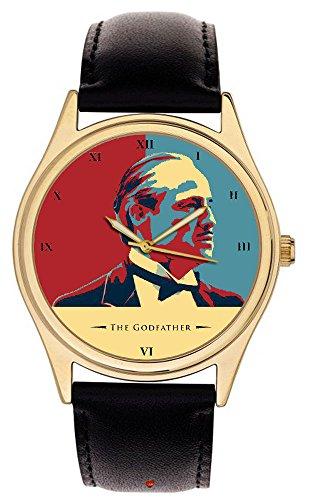 Der Pate Marlon Brando kult Farben warholesque Hollywood Collectible Art 40 mm Armbanduhr