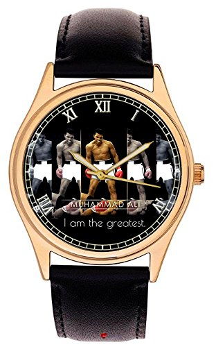 Muhammad Ali cassisus Clay I am the greatest warholesque Art 40 mm Collectible Armbanduhr
