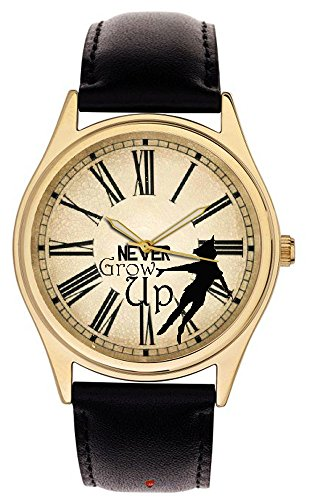 Peter Pan Iconic Antik Uhr Art Never Grow Up Collectible Wool Armbanduhr