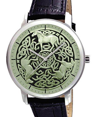 Sammler Keltisch Reitkunst Muster Grosse 40 mm Armbanduhr
