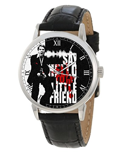 Scarface Say Hello to my little Friend Cult Crimson warholesque Hollywood Collectible Armbanduhr