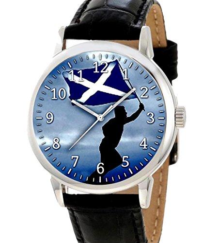Jetzt Ist die Zeit fuer Scotland s Freiheit Blau Saltire Classic Collectible Scottish Stolz Armbanduhr