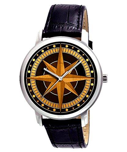 Seltene Antik kompass Kunst 44 mm Sammler Armbanduhr