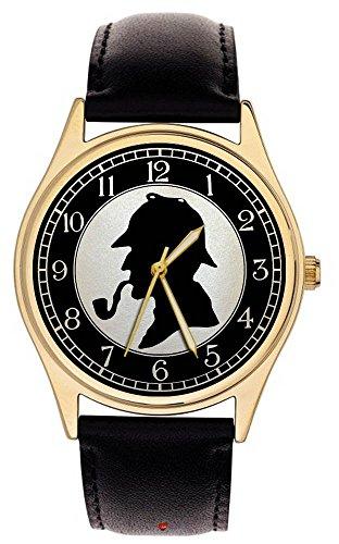Sherlock Holmes Fantastische Perloid Silhouette Art Collectible Detektiv Armbanduhr