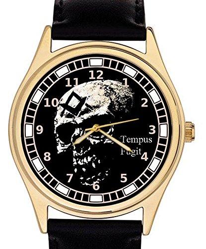 Symbolische Freimaurer Skull Art Tempus Fugit Freimaurerei Armbanduhr