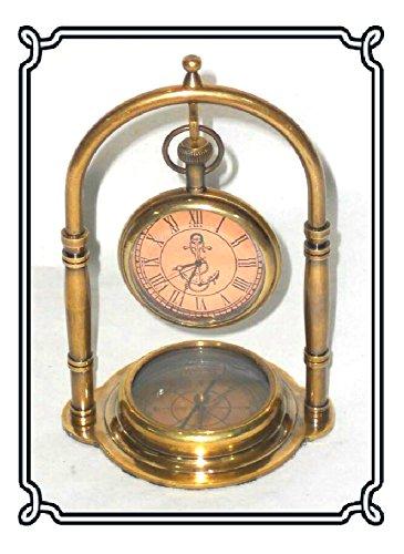 Wunderschoene viktorianische Zifferblatt antiquierten Messing Taschenuhr Hotelpage Kompass stehen