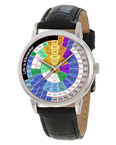 Die Tisch eckig Zirkular Classic Chemie Art Collectible Armbanduhr